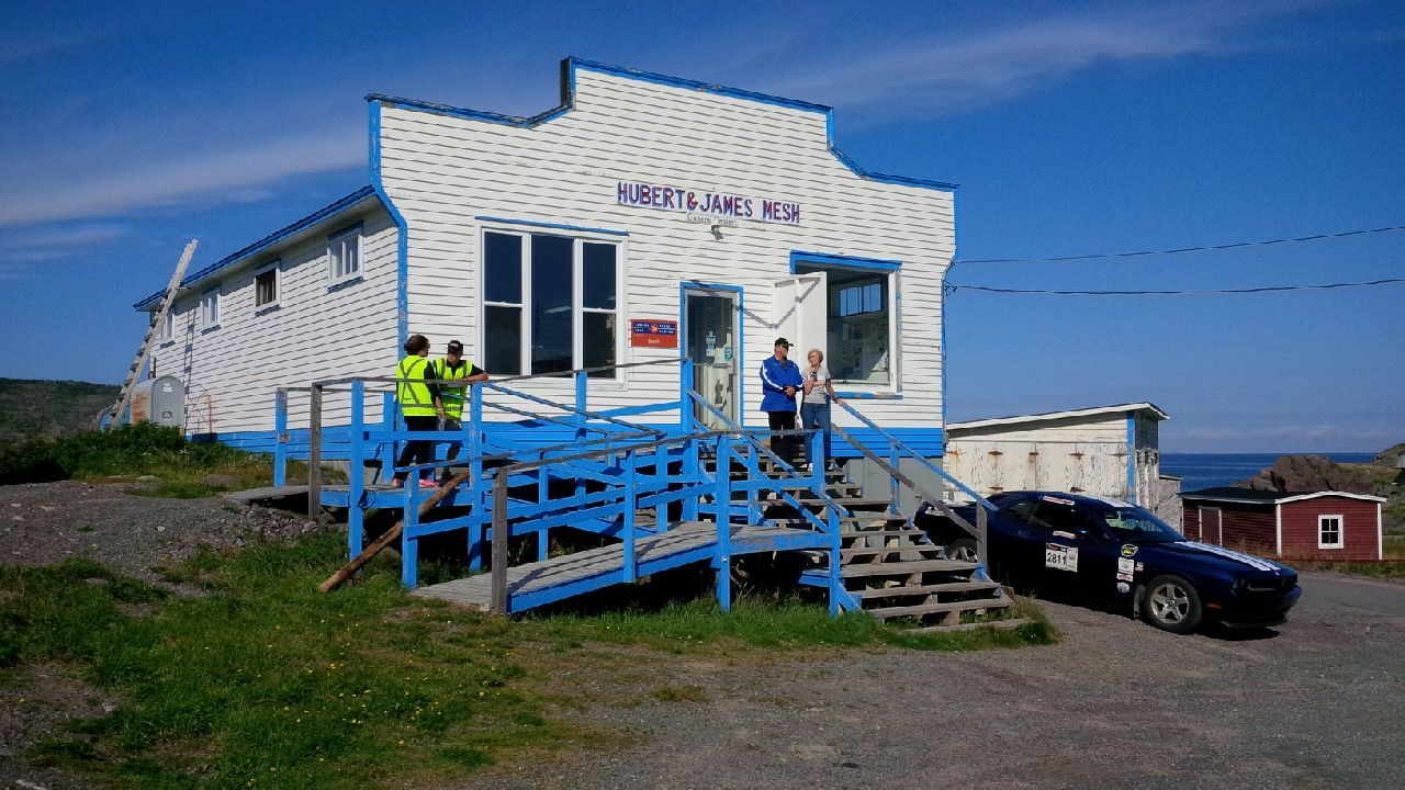 Hubert and James Mesh (in Keeles Newfoundland) were a bit busy with the influx of Targa clients!